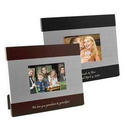 Silver and Rosewood Sleek Silhouette Photo Frame