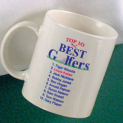 Top 10 Best Golfers Mug