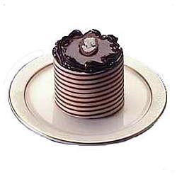 Chocolate Ribbon Mousse Cakes