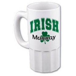Irish Pride White Ceramic Beer Mug