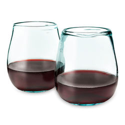 Recycled Windshield Wine Glasses