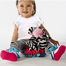 Mud Pie Zebra Tights