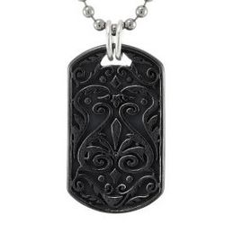 Black Titanium Dog Tag