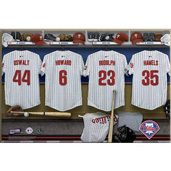 Personalized Philadelphia Phillies MLB Locker Room Canvas Print