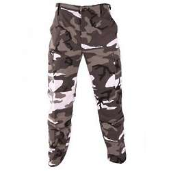 Urban Camo Button Fly Trousers