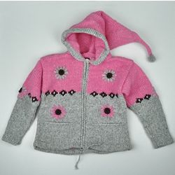 Kid's Daisy Zip-up Gnome Sweater