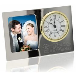Our Love is Timeless Picture Frame and Clock
