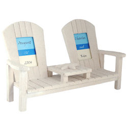 Bride and Groom Seat for Two Sandy Bench Picture Frame