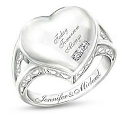 Our Love is Written on My Heart Personalized Diamond Ring
