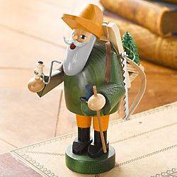 German Christmas Tree Woodsman Incense Smoker