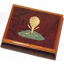 Dark Brown Golf Jewelry Box