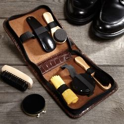 Deluxe 7-Piece Shoe Shine Kit