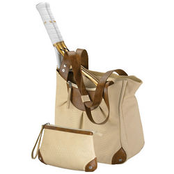 Milan Tennis Tote with Cosmetic Case
