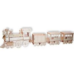 3D Jigsaw Wood Train Puzzle Kit