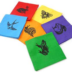 Garden Creatures Rainbow Napkins