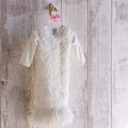 White Chiffon Baby's Sleep Gown