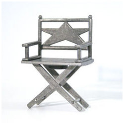 Solid Pewter Mini Movie Director Chair