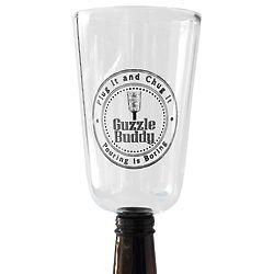 Guzzle Buddy Beer Bottle Glass