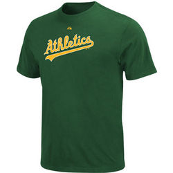 Oakland Athletics Green Wordmark T-Shirt