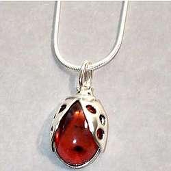 Amber Ladybug Pendant