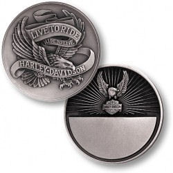 Personalized Harley Davidson® Lets Ride Keepsake Coin