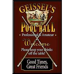 Personalized Pool Hall Tavern Sign