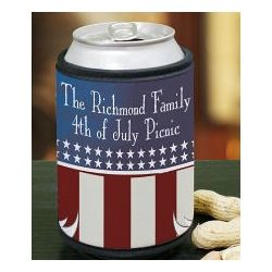 Personalized American Pride Can Wrap Koozie