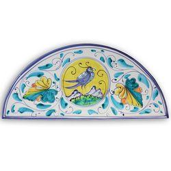 Italian Bird of Prosperity Arch Ceramic Plaque