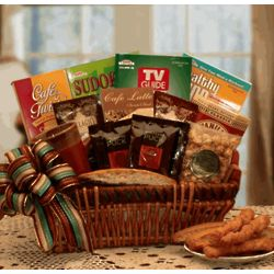 You Deserve A Break Coffee & Puzzles Gift Basket