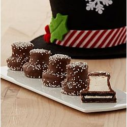 Handmade Chocolate Covered Snowman Hats