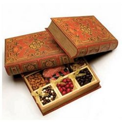Aged Hollow Book Sweet Treat Gift Box