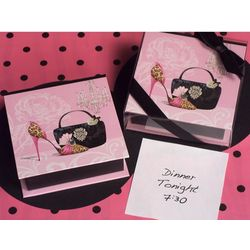 Dazzling Divas Memo Box and Memo Pad Favor