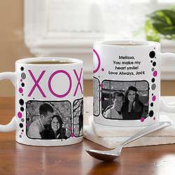 Hugs and Kisses Personalized Photo Coffee Mug