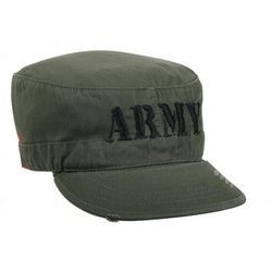 Vintage Embroidered Army Fatigue Cap