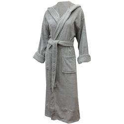 Unisex Zero Twist Terry Hooded Bathrobe