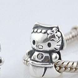 Hello to the Kitty Sterling Silver Charm Bead