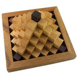 Pyramid Steps Wooden Mind Bender Puzzle