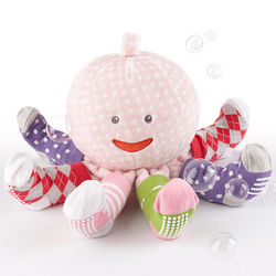 Plush Octopus Toy with Girl's Socks