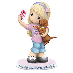 Precious Moments Girl and Her Dachshund Figurine