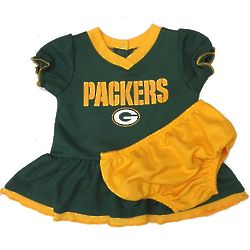 Green Bay Packers Baby Dazzle Dress and Panty Set