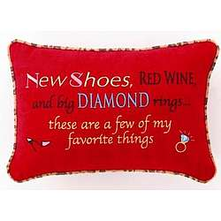 """Favorite Things"" Pillow"