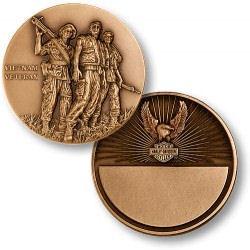Personalized Vietnam Veteran Harley Davidson® Keepsake Coin