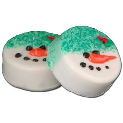 Hand Decorated Oreo Snowman Cookies