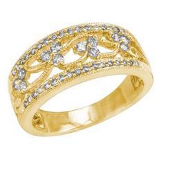 14kt Yellow Gold 1/2ct tw Round Diamond Anniversary Ring