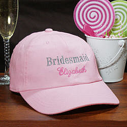 Embroidered Bridesmaid Hat