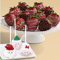 3 Christmas Chocolate Cake Pops & 12 Christmas Berries