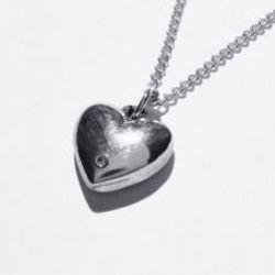 Diamond and Tin Heart Pendant