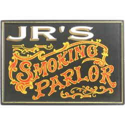 Smoking Parlor Personalized Bar Sign