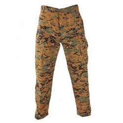Woodland Digital Camo Button Fly Trousers