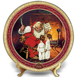 Norman Rockwell Naughty or Nice Santa Claus Collector's Plate